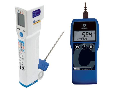 Termometer samt Differenstryksmålere og digitalt fødevaretermometer